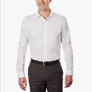 Kenneth Cole Unlisted Slim Fit Dress Shirt White